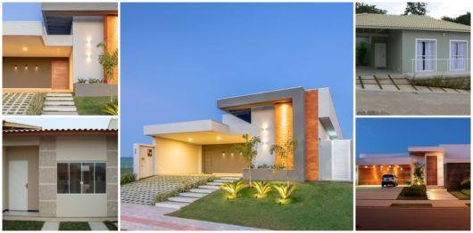 Fachadas de casas t rreas 51 inspira es bonitas e modernas for Modelos de casas minimalistas pequenas