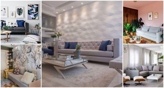 74 Ambientes com sofá cinza – Dicas de decoração e ...